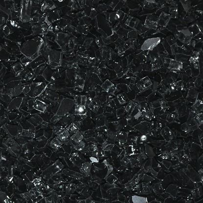 "Picture of 1/4"" Black  American Fireglass (10 lbs)"