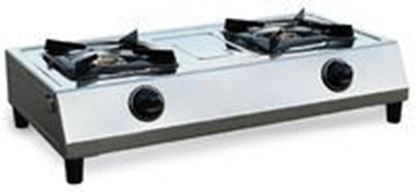 Picture of Double Burner Stainless Steel Stove, 90-6112
