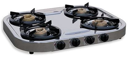 Picture of Four Burner Stainless Steel Stove, 90-6114