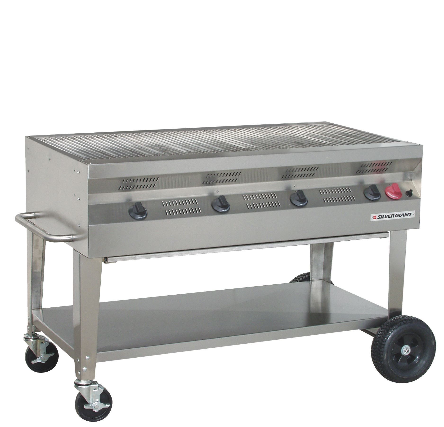 Silver giant quot commercial stainless steel barbaque grill