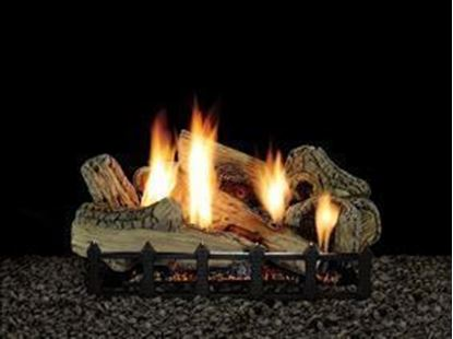 gas fireplace logs, canyon log set
