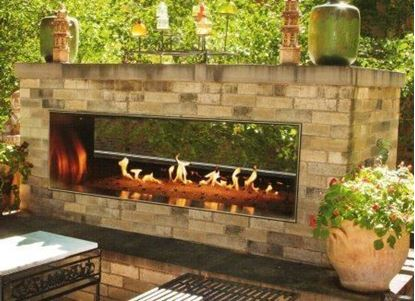 Picture of Carol Rose See-Through Linear Outdoor Fireplace 48 & 60