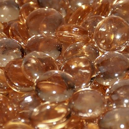 """Picture of 1/2"""" Apricot Luster Firebeads (10 lbs)"""