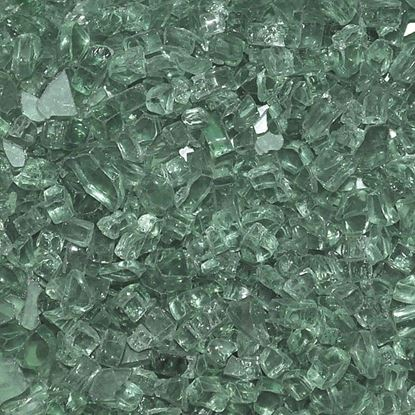 """Picture of 1/4"""" Evergreen American Fireglass (10 lbs)"""