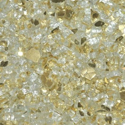 """Picture of 1/4"""" Gold Reflective American Fireglass (10 lbs)"""