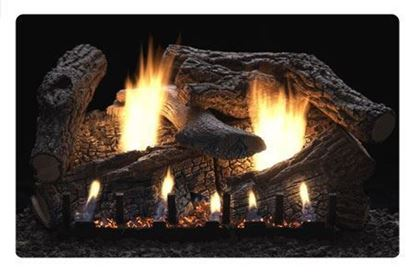Picture of Empire Super Sassafras Gas Fireplace Logs, Vent Free Slope Glaze Burner