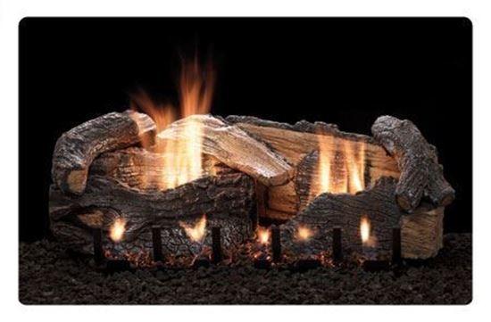 Empire Stacked Aged Oak Refractory Log Set Slope Glaze Burner