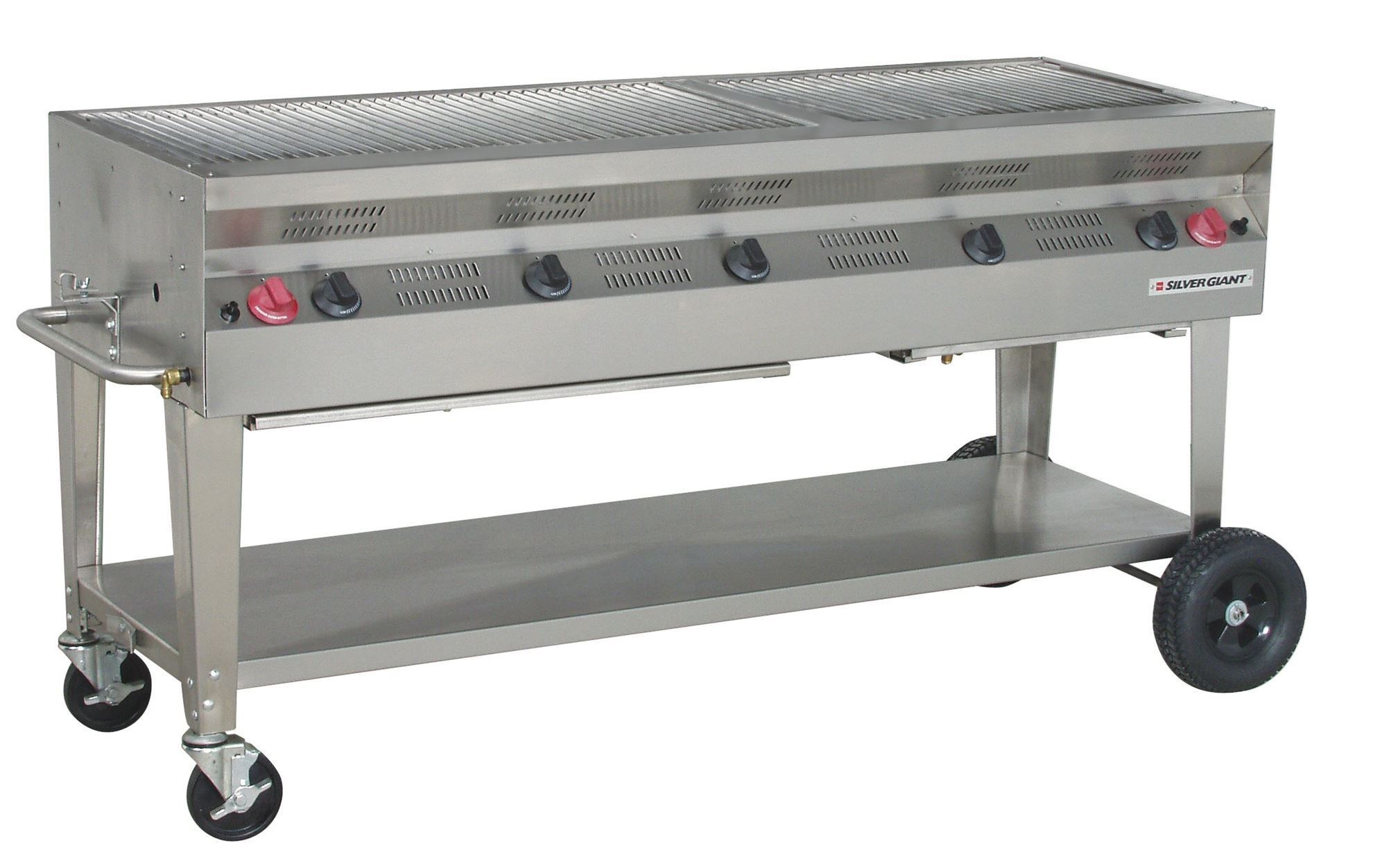 Silver giant quot commercial stainless steel barbecue grill
