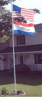 Picture of TF25S - Titan 25' Silver Telescoping Flag Pole