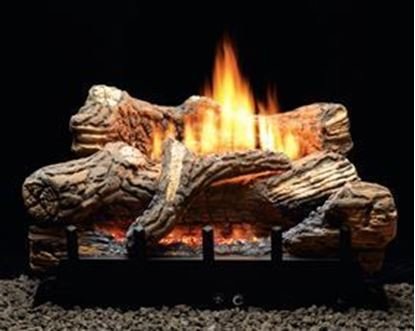Picture of Empire Flint Hill Gas Fireplace Logs, Vent Free Contour Burner