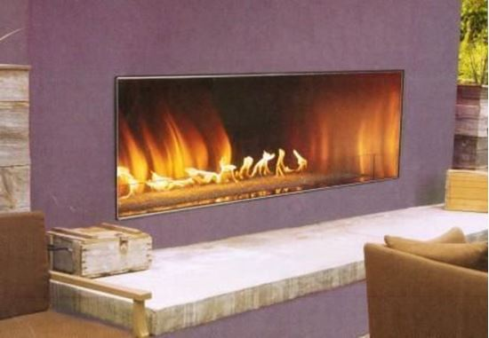 Carol Rose Coastal Collection Outdoor Linear Fireplace 48 60