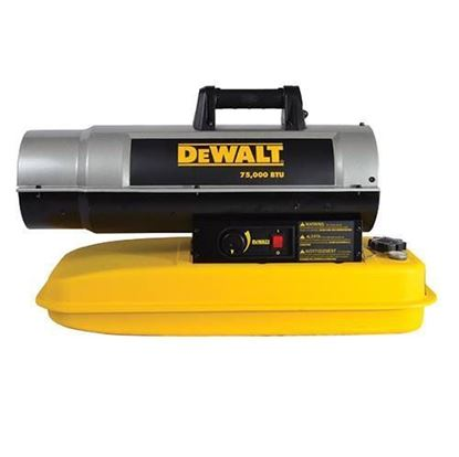 Picture of Dewalt Portable Forced Air Kerosene Heater, DXH75KT