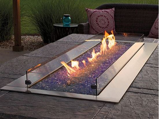 Carol Rose Coastal Collection Outdoor Linear Fire Pit 48